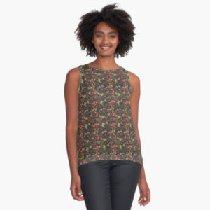 1920s-floral-nature-plant-pattern-tank-top-dressy-modern