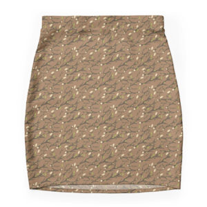 branches-leaves-nature-print-bodycon-brown-skirt