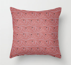 dogs-and-hearts-stripes-pattern-pillow